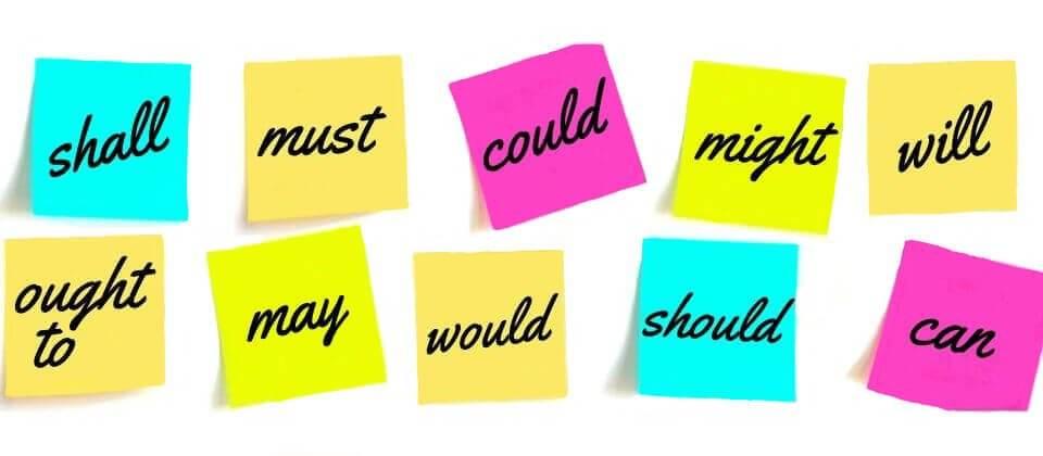 abbastanza Modal Verbs list & examples- Learn English Grammar SJ77