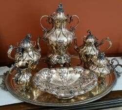 tea time in Britain antique tea service